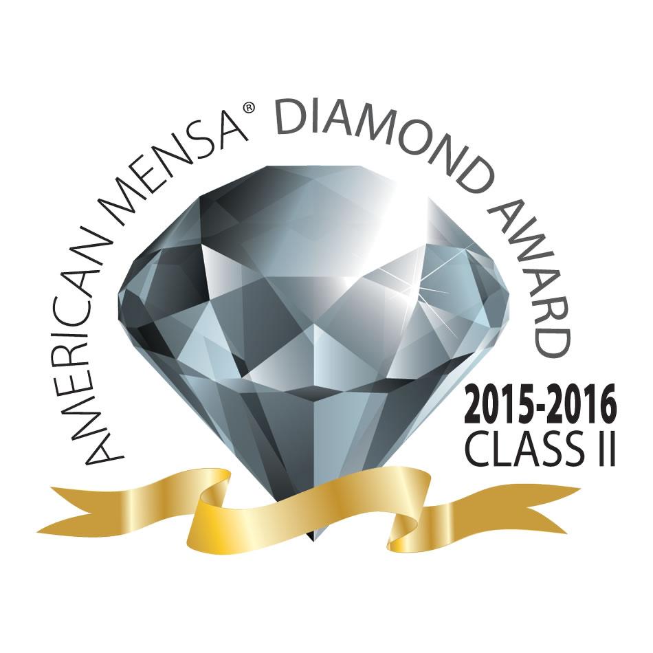 American Mensa Diamond Award 2015-2016 Class II