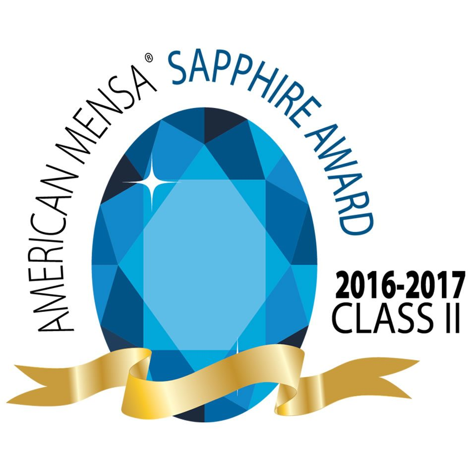 American Mensa Sapphire Award 2016-2017 Class II