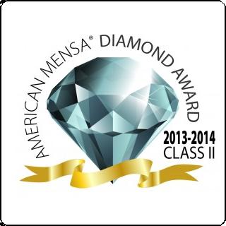 American Mensa Diamond Award 2013-2014 Class II